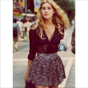 "Free People ""Holly Go Lightly"" tweed skirt"